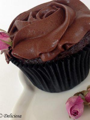 Málnás csokis cupcake