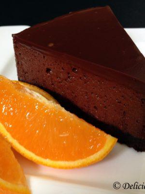 Cointreau likőrös narancsos csokimousse