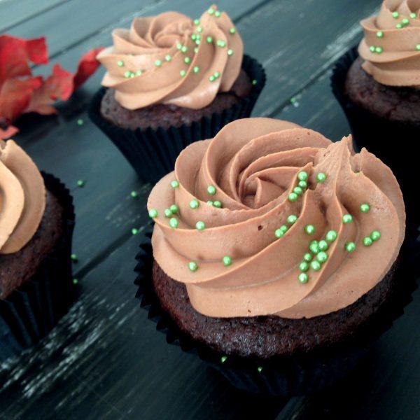 nutellás belga csokis cupcake