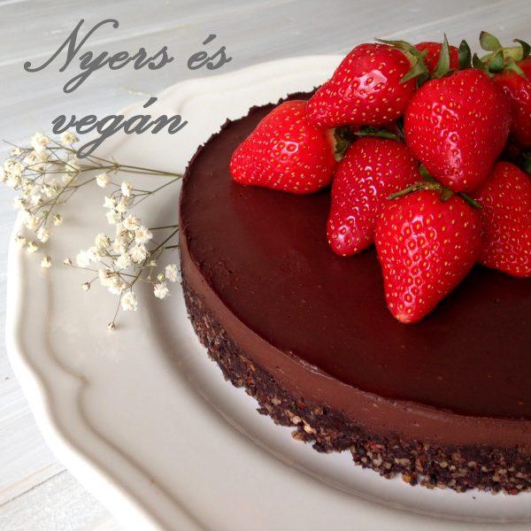 nyers vegán bownie - csokitorta