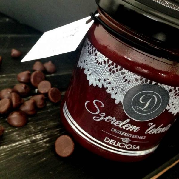 vörösborban sült csokis meggy rummal