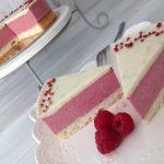 Málna lime paleo torta